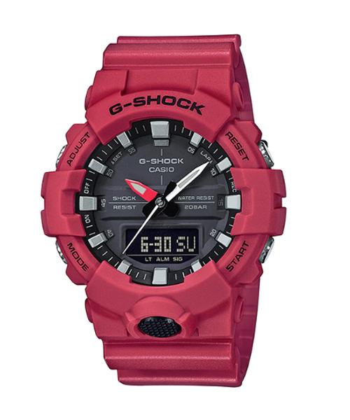 GA 800 1 - Đồng Hồ Nam Casio G-SHOCK GA-800-4A Dây Nhựa Màu Đỏ