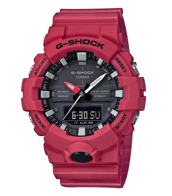 GA 800 4A 00 600x682 - Đồng Hồ Nam Casio G-SHOCK GA-800-4A Dây Nhựa Màu Đỏ