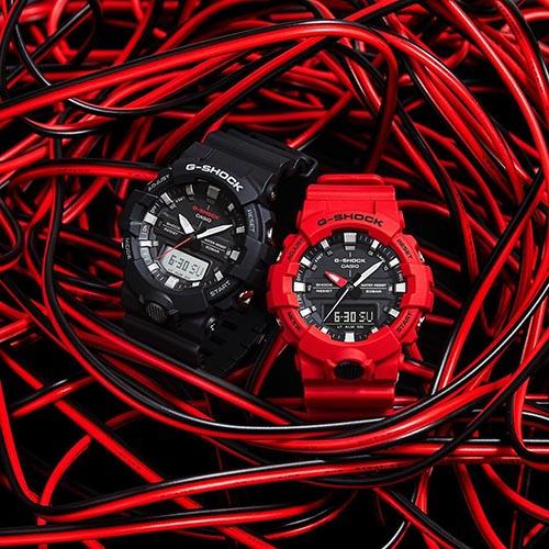 GA 800 4A 10 - Đồng Hồ Nam Casio G-SHOCK GA-800-4A Dây Nhựa Màu Đỏ