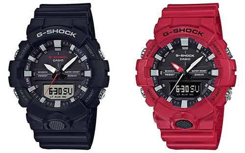 GA 800 4A 12 - Đồng Hồ Nam Casio G-SHOCK GA-800-4A Dây Nhựa Màu Đỏ