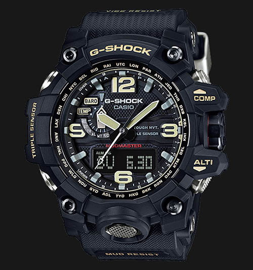 GWG 1000 1ADR 4 - Đồng Hồ Nam G Shock GWG-1000-1A Bộ 3 Cảm Biến