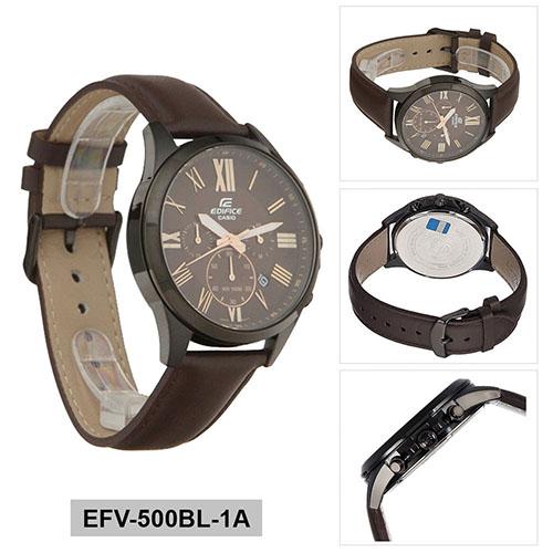 EFV 500BL 1AVUDF 3 - Đồng Hồ Nam Casio Edifice EFV-500BL-1AVUDF Dây Da Thật