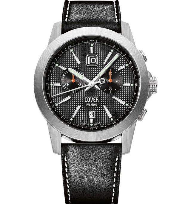 Co155 03 0 600x682 - Đồng hồ Cover Co155.03 Black- Dây Da