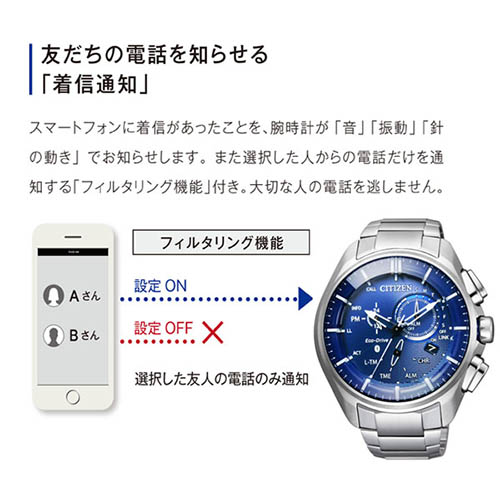BZ1040 50L 6 - Đồng Hồ Nam Citizen BZ1040-50L Kết Nối Bluetooth