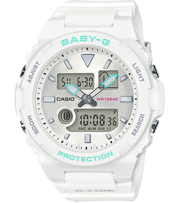 BAX 100 7A 00 600x682 - Đồng Hồ Nữ Casio Baby G BAX-100-7A Dây Nhựa Màu Trắng