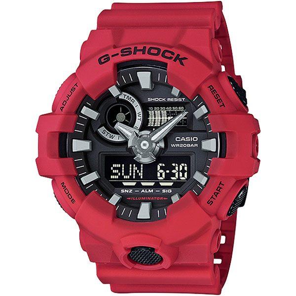 GA 700 4ADR 00 600x600 - Đồng Hồ Nam G Shock GA-700-4ADR Dây Nhựa Màu Đỏ