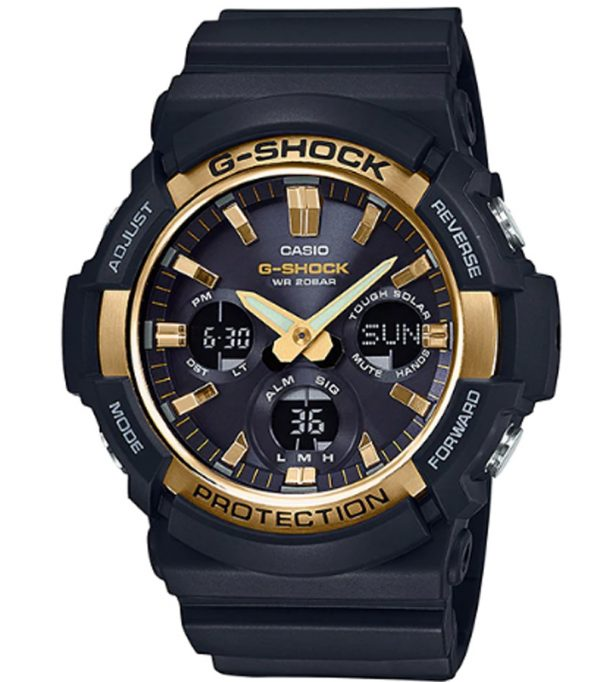 GAS 100G 1A 00 600x682 - Đồng Hồ Nam Casio G Shock GAS-100G-1ADR Dây Nhựa Màu Đen