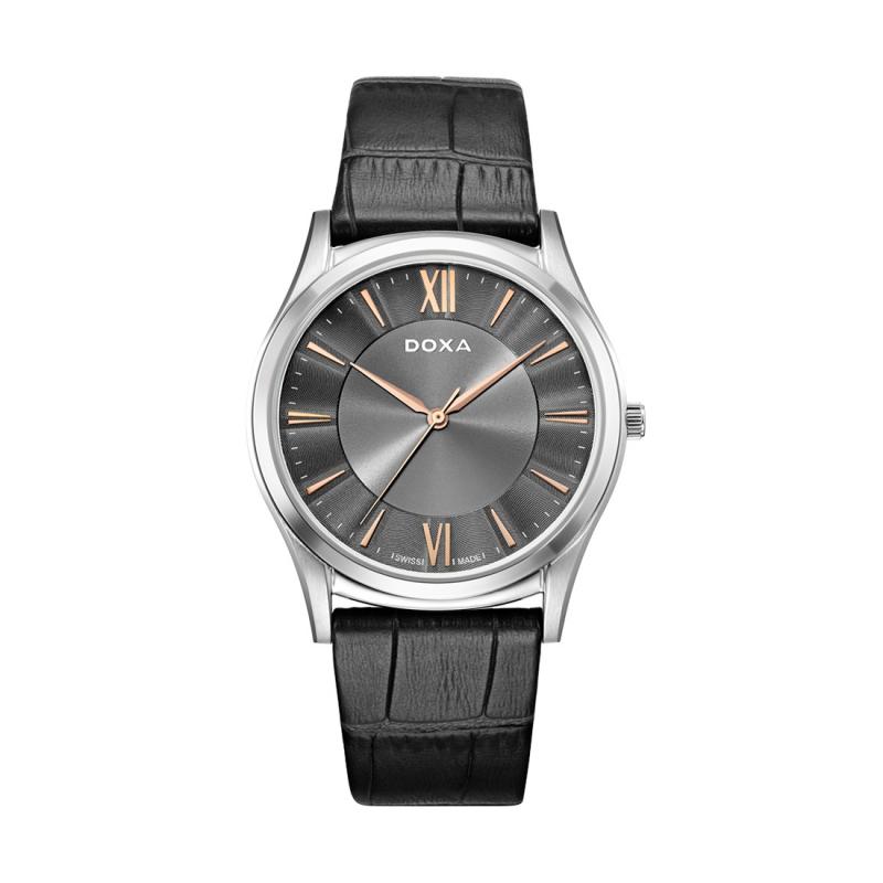 doxa 1 - Đồng hồ Excutive Slim sản xuất ở đâu? Các chức năng của đồng hồ Excutive Slim