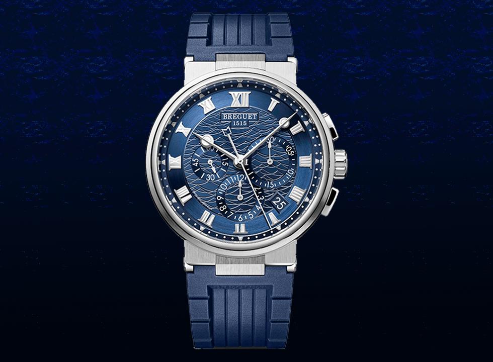 breguet 1 - Top 7 mẫu đồng hồ nam màu xanh The Chronograph Blues tốt nhất