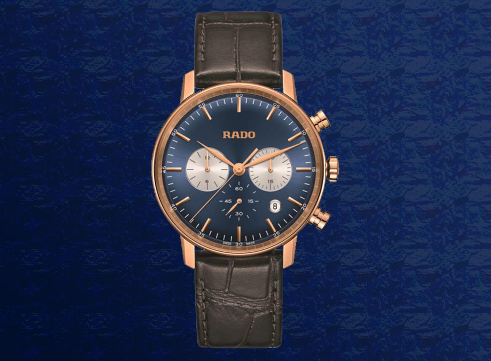 rado - Top 7 mẫu đồng hồ nam màu xanh The Chronograph Blues tốt nhất