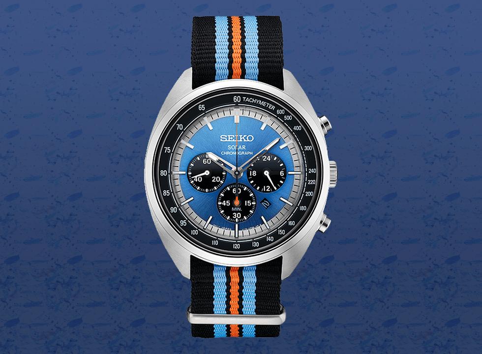 seiko - Top 7 mẫu đồng hồ nam màu xanh The Chronograph Blues tốt nhất