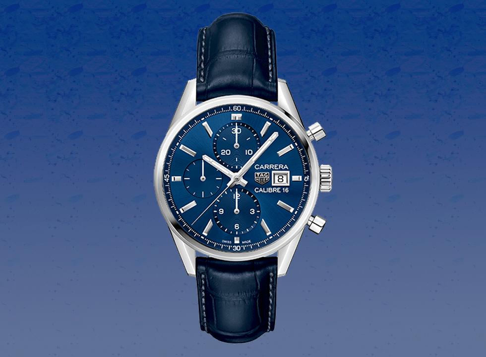tagheuer - Top 7 mẫu đồng hồ nam màu xanh The Chronograph Blues tốt nhất