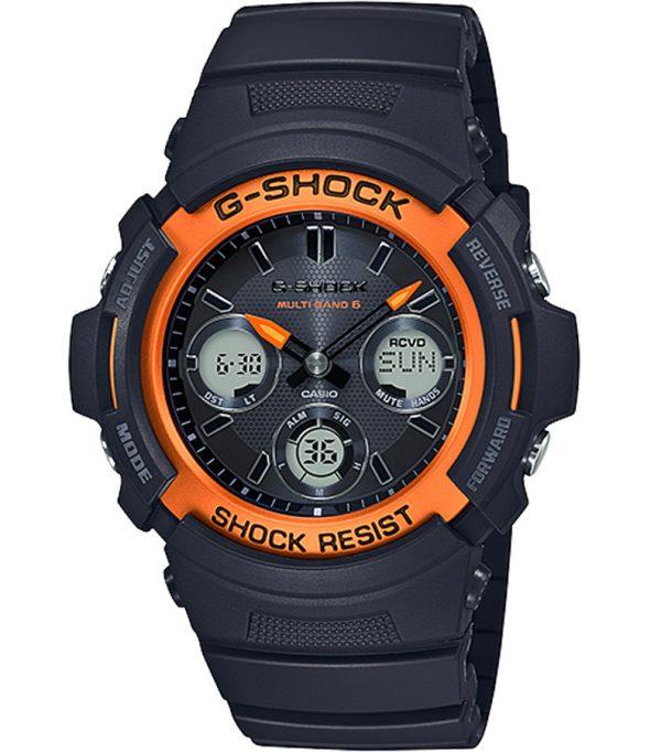 AWG M100SF 1H4 000 600x682 - Đồng Hồ Casio G Shock AWG-M100SF-1H4-Nam-Dây Nhựa Màu Đen