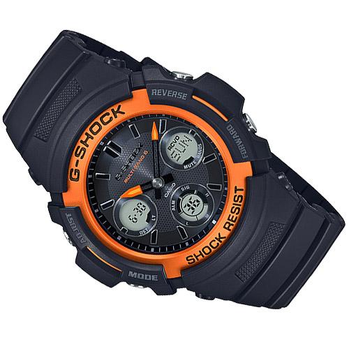 AWG M100SF 1H4 2 - Đồng Hồ Casio G Shock AWG-M100SF-1H4-Nam-Dây Nhựa Màu Đen
