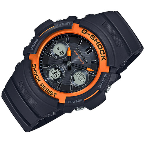 AWG M100SF 1H4 3 - Đồng Hồ Casio G Shock AWG-M100SF-1H4-Nam-Dây Nhựa Màu Đen