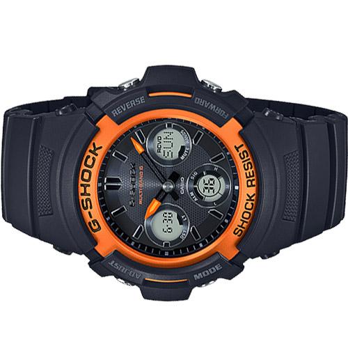 AWG M100SF 1H4 4 - Đồng Hồ Casio G Shock AWG-M100SF-1H4-Nam-Dây Nhựa Màu Đen