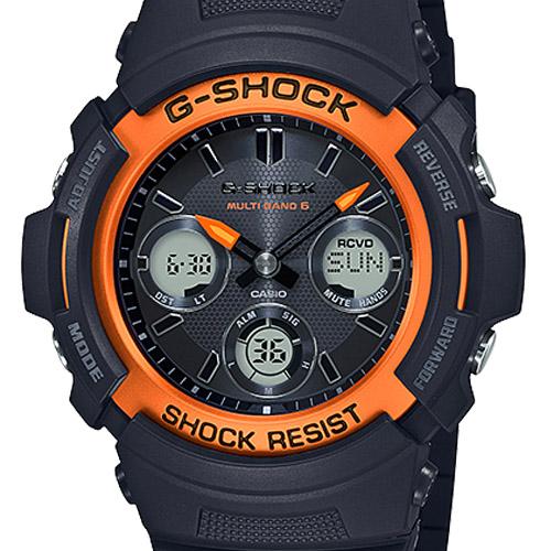 AWG M100SF 1H4 5 - Đồng Hồ Casio G Shock AWG-M100SF-1H4-Nam-Dây Nhựa Màu Đen