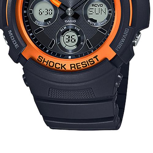 AWG M100SF 1H4 6 - Đồng Hồ Casio G Shock AWG-M100SF-1H4-Nam-Dây Nhựa Màu Đen