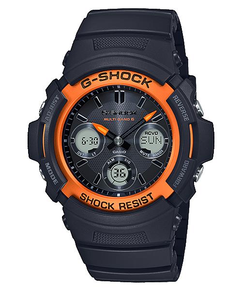AWG M100SF 1H4 - Đồng Hồ Casio G Shock AWG-M100SF-1H4-Nam-Dây Nhựa Màu Đen