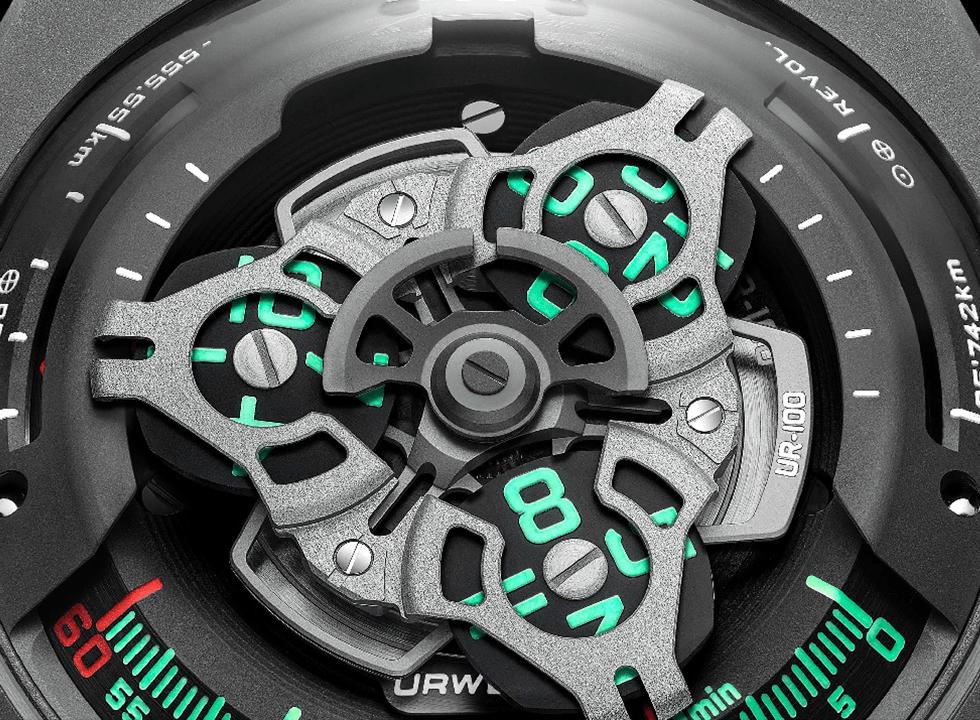 URWERKUR100 4 - Khám phá đồng hồ Urwerk UR-100 SpaceTime Gunmetal có gì đặc biệt?