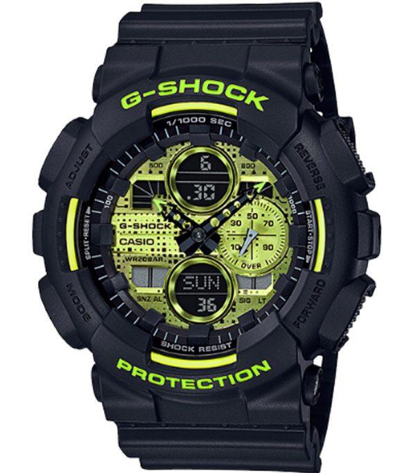 GA 140DC 1A 0 600x682 - Đồng Hồ Casio G Shock GA-140DC-1AVDF Dây Nhựa Màu Đen