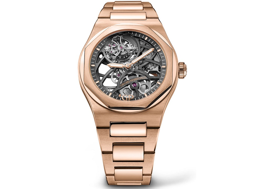 girard perregaux laureato flying tourbillon skeleton - Khám phá đồng hồ Girard Perregaux Laureato Bay Tourbillon Skeleton