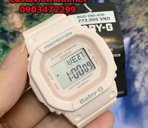 Đánh giá đồng hồ Casio Baby G BGD-560-4ER – Nữ tính Square Digital