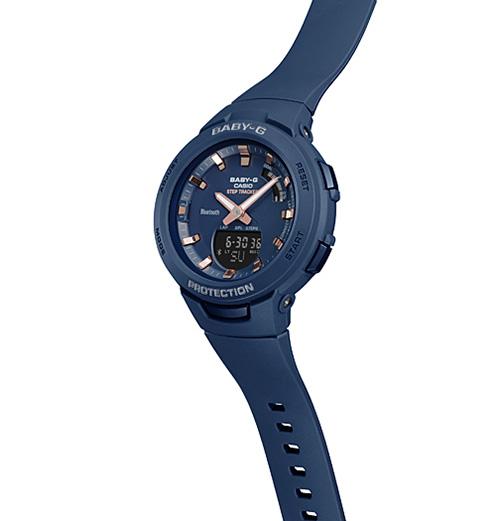 BSA B100 2A 3 - Review Baby-G BSA-B100-2A-mẫu đồng hồ Casio Baby G kết nối Bluetooth đầu tiên