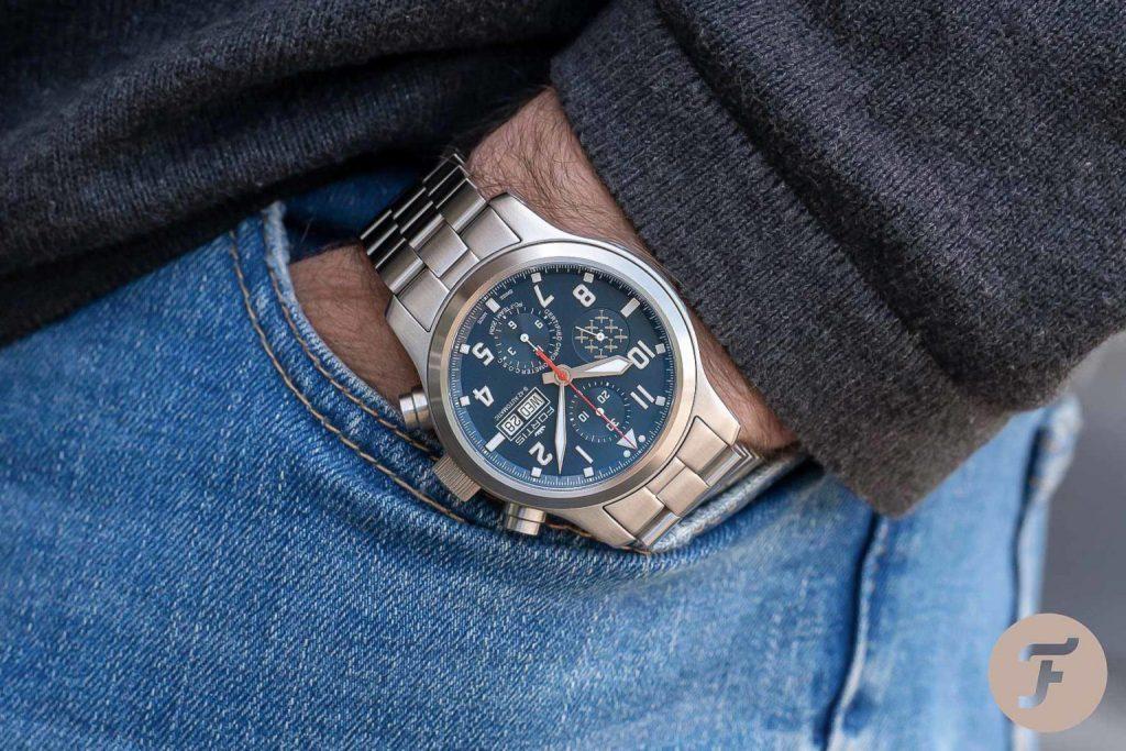 fortis pc7 chrono 1024x683 - Khám phá đồng hồ Fortis Aeromaster PC-7 đậm chất thể thao