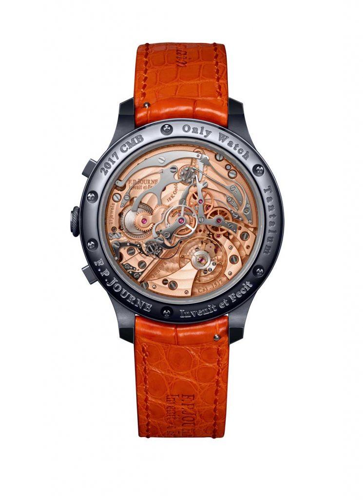 03 FPJourne Only Watch 2017 745x1024 - FP Journe Chronographe Monopoussoir Rattrapante chỉ dành cho đồng hồ đeo tay